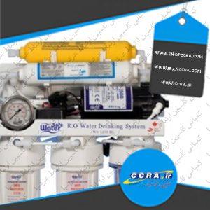 نشتی آب از بدنه اصلی پمپ دستگاه تصفیه آب خانگی واترسیف